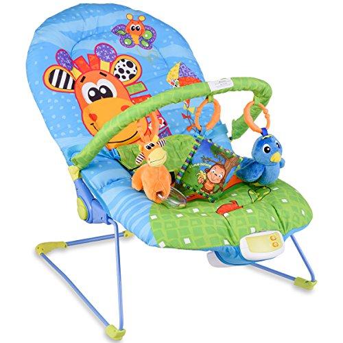 *GOPLUS Babywippe, Babywiege, Schaukelwippe, Schaukelsitz, Babyschaukel, Babysitz mit Vibrationsfunktion, Musikbox (Giraffe)*
