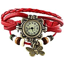 Access-o-risingg Orange Non-Precious Metal Multiband Girl's Watch Bracelet with Butterfly Charm