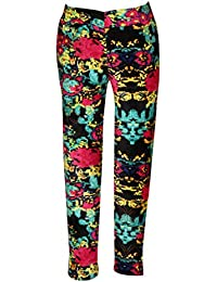 Miss Studio Printed and Crystal Embellished Jeggings for Girls