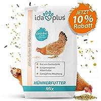 Ida Plus - Hühnerfutter Mix 25 Kg - Ausgewogenes Alleinfutter | Ganzjahres Mischung, GVO-frei (auch für Legehennen) | Bestens für Futterautomaten geeignet | Enthält Calcium und Vitamine (25 Kg)