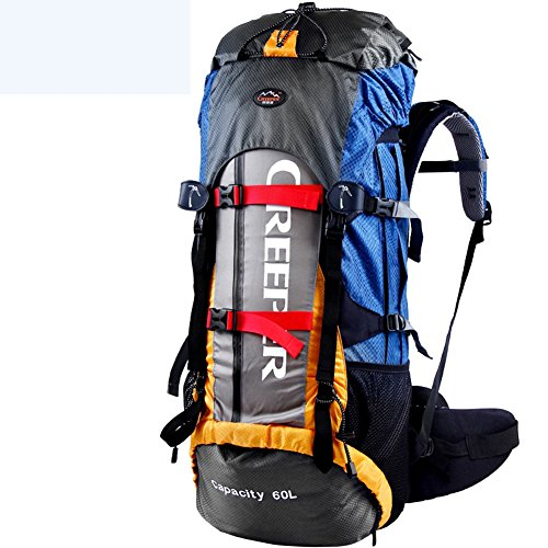 YAAGLE Outdoor Bergsteigen Taschen Rucksack Reisetasche Trekkingrucksack Fahrradrucksack 60 L-blau orange
