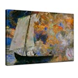 Bilderdepot24 Kunstdruck - Alte Meister - Odilon Redon - Blumen und Wolken - 50x40cm einteilig - Leinwandbilder - Bild auf Leinwand - Wandbild