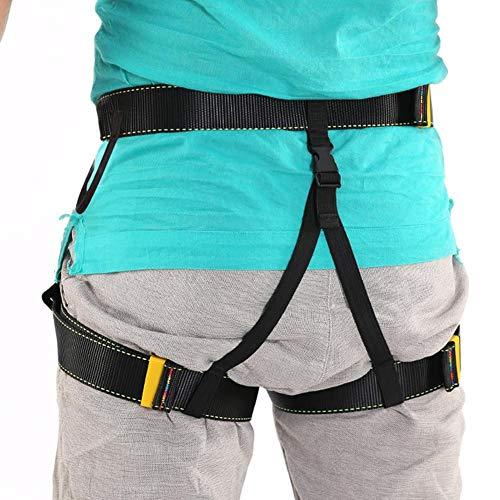Waysad cintura di sicurezza cintura di sicurezza da esterno con cintura da discesa all'aperto cintura di sicurezza da cintura a mezza altezza per arrampicata all'aperto per l'arrampicata all'aperto