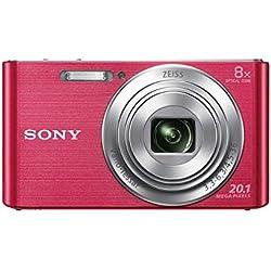 "Sony DSC-W830 - Cámara compacta de 20.1 Mp (pantalla de 2.7"", zoom óptico 8x, estabilizador óptico), rosa"