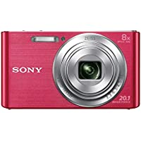 Sony DSCW830 Digital Compact Camera - Pink (20.1MP, 8x Optical Zoom) 2.7 inch LCD