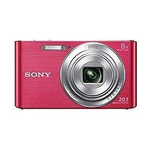 Sony DSC-W830 Fotocamera Digitale Compatta, Sensore Super HAD CCD da 20.1 MP, Obiettivo ZEISS Vario-Tessar, Rosa