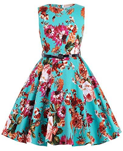 Kate Kasin Maedchen Swing Retro Kleid Ballkleid 10-11 Jahre KK250-1