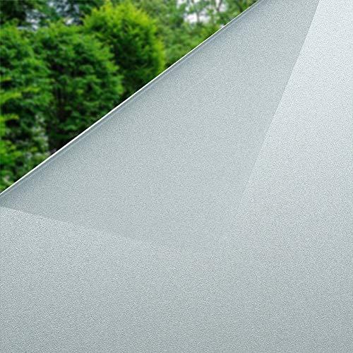 Fensterfolie Sichtschutz Selbstklebend Sichtschutzfolie Blickdicht Milchglasfolie für Fenster 90 x 200 cm