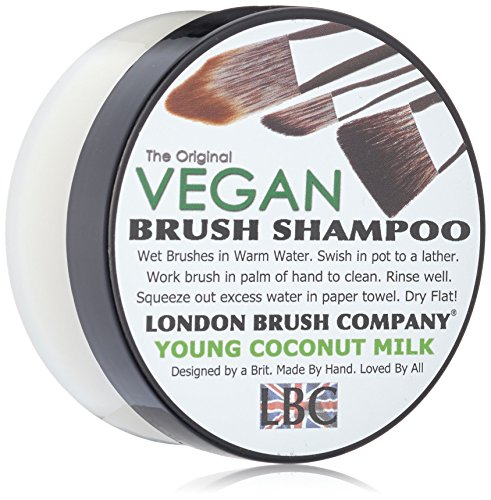 LONDON BRUSH COMPANY Vegan Young Coconut Milk Solid Brush Shampoo, Young Coconut 56 g