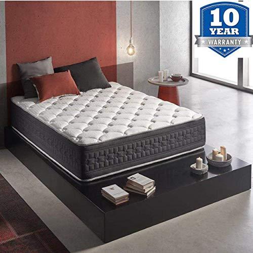 Wake-Up Foam Pocket Spring 8-inch Queen Size Mattress (White, 72x60x8...