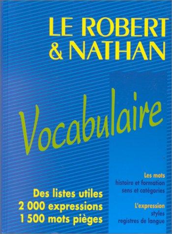 Le Robert et Nathan, vocabulaire