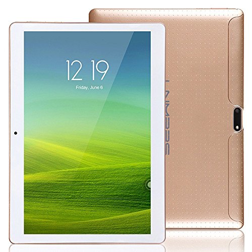 LNMBBS 3G Tablet de 10.1 Pulgadas HD (WiFi, 2 GB de RAM, 16GB de memoria interna, quad-core, Android 5.1 Lollipop), color Oro …