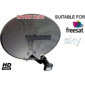 Systemsat Zone 1 Satellite Dish & Quad Lnb for Sky Freesat HD SD