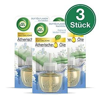 Airwick Duftölflakon Nachfüller, Cotton & Weißer Flieder, 3er Pack (3 x 19 ml)