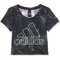 Adidas Cf6756 Camiseta, Niñas, Blanco/Negro, 170-14/15 años