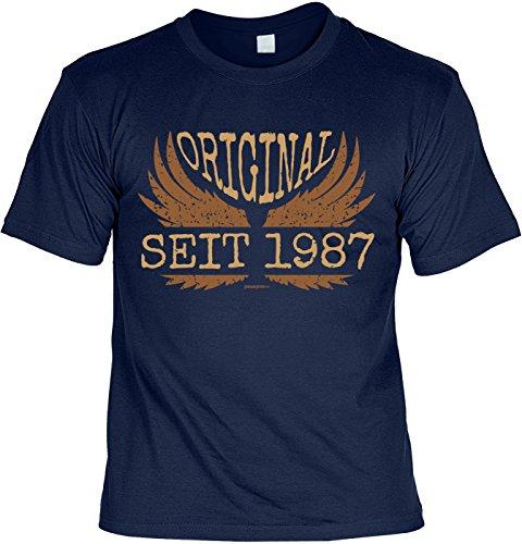 Fun Shirt zum Geburtstag: Original seit 1987 - Geschenk, Geburtstagsgeschenk - navyblau Navyblau