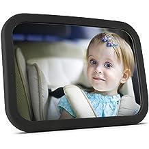 Espejo retrovisor bebe | Espejo de coche bebe para asiento trasero - Espejo nítido grande y seguro