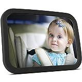 Rücksitzspiegel für Babys von Steppenläufer | Babyspiegel für's Auto (Kindersitz-Spiegel) - Autospiegel / Rückspiegel für's Baby, splitterfreier und extra großer Spiegel für die Babyschale