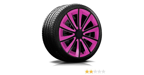 16 Zoll Rkk11 Multi Color Line Pink Schwarz Radkappen Radzierblenden 4 Stück Auto