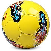 Wenquan,Máquina de tamaño 5 PU Cosido de fútbol para Entrenamiento de fútbol Adolescente(Color:Amarillo)