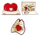 Artone kreative 3d erscheinen San Valentino Freundschaft Dankeskarten Liebe Geschenk Karte Auguris A