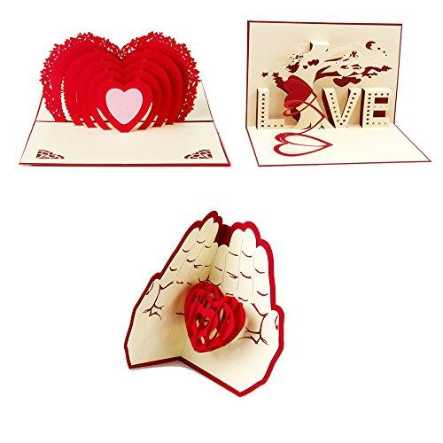 Artone creativo 3d apparire san valentino amicizia ringraziamento amore regalo biglietto d'auguris a