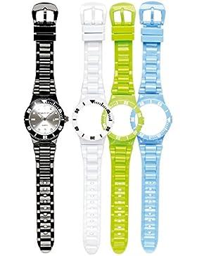 PEARL Damen Armbanduhr: Armbanduhr mit 4x Wechsel-Gehäuse und Armbändern (Quarz-Armbanduhren für Damen)