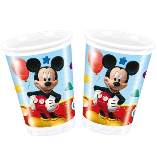 PARTY DISCOUNT NEU Trinkbecker Playful Mickey, 200 ml, 8 Stk.