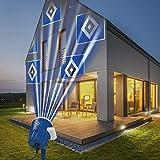Hamburger SV Logo Projektor Fanartikel | LED-Motivstrahler HSV-Logo | HSV Beleuchtung für Hamburg Supporter (blau/weiß)