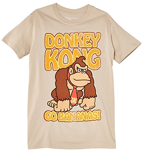 Nintendo Men's Donkey Kong Short Sleeve T-Shirt, Beige (Sand)