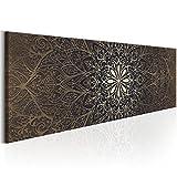 Cuadro 135x45 cm Format! TOP Lienzo tejido no tejido - Abstraccion Impresion en calidad fotografica Oriente Mandala f-A-0491-b-b B&D XXL