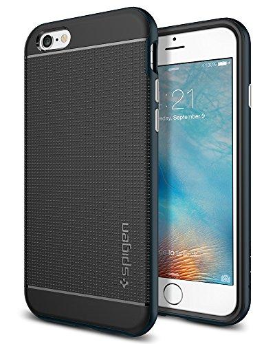 Spigen iPhone 6 6S Hülle, [Neo Hybrid] Metallisierte Tasten [Dunkelblau] TPU Schale + PC Farbenrahmen / 2-teiliges Premium Case Schutzhülle für iPhone 6 6S - Metal Slate (SGP11619)