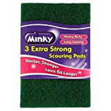 Minky Extra Strong Scouring Pads - Pack of 3