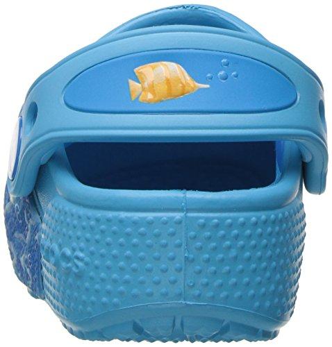 Crocs Funlabltfshclg, Sabots Mixte Enfant Multicolore (Multi/Electric Blue)