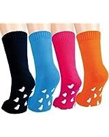 VITASOX Kinder Frottee Socken mit ABS Uni 2er Set