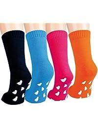 Vitasox Kinder Frottee Socken Baumwolle Kindersocken Frotteesocken Jungen Mädchen mit ABS einfarbig Stoppersocken 2er Pack