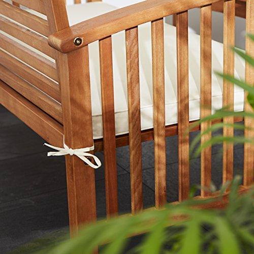 Ultranatura Loungebank 2-Sitzer, Canberra Serie – Edles & Hochwertiges Eukalyptusholz FSC zertifiziert – 119 cm x 71 cm x 89 cm - 6
