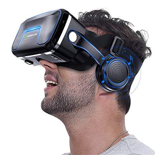 Nuoyi Vr Headset, Virtual Reality Headset, 3D Vr Brille für Fernsehen, Filme und Videospiele - Virtual Reality Brille Vr Brille für Ihr privates Theater Beste Klangqualität
