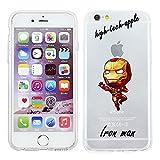 iPhone 5/5s Marvel Cassa del Silicone Fumetto / Copertura del gel per Apple iPhone 5s 5 SE / Protezione dello Schermo e Panno / iCHOOSE / Iron Man