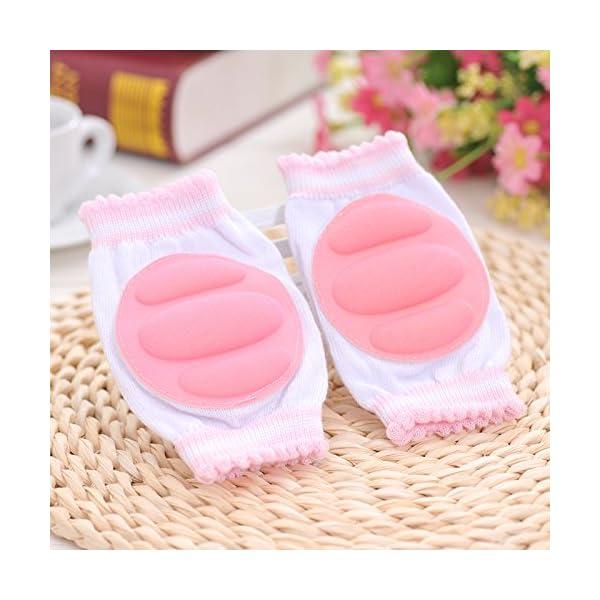 Hillento transpirables elásticos unisex infantiles rodilleras del bebé del niño de rodilla coderas arrastrándose… 2