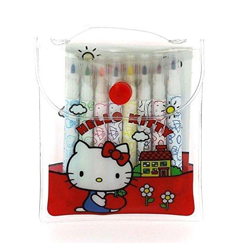 Offizielle Vintage Retro Style Hello Kitty Schule Mini Faserschreiber Färbung