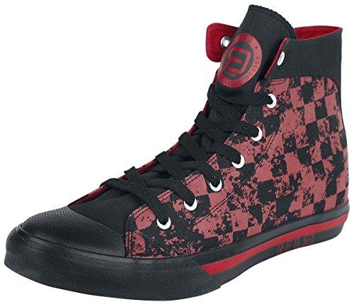 R.E.D. by EMP Checked Sneaker Scarpe sportive nero/rosso EU39