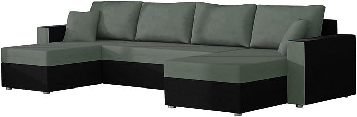 Mirjan24 Ecksofa Sofa Couchgarnitur Couch Rumba Style! Wohnlandschaft Mit  Schlaffunktion Und Bettkasten, Ecksofa In