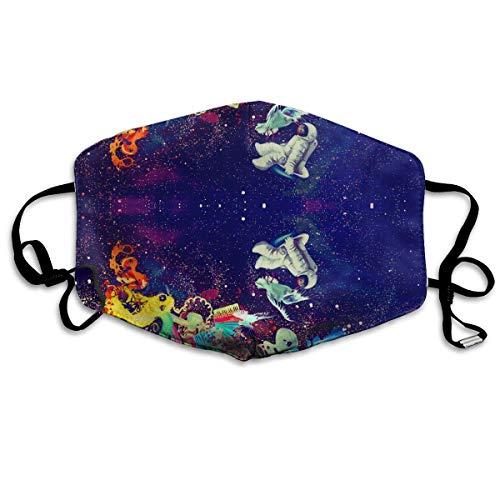 Vidmkeo Unisex-Staubmaske Psychedelic Trippy Galactic Astronaut Mundmaske Gesichtskleidung Anti-Umweltverschmutzung Außenmaske Aktivitäten Warm Winddicht Gesichtsmasken Multicolor10