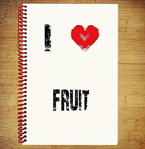 A5Notebook/Zeichnen Pad Diary Gedanken Ideen Pläne–I love Fruit