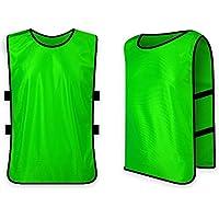 Ndier Team - Chaleco de entrenamiento para baloncesto y fútbol para niños y adultos, color Grass Green, tamaño adulto