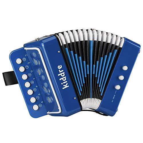 Kiddire Akkordeon Kinder Spielzeug 10 Tasten Ziehharmonika, Blau