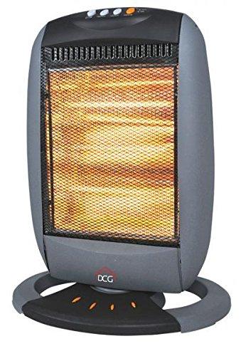 DCG Eltronic SA9223 stufetta elettrica Stufetta alogena Nero, Grigio 1200 W