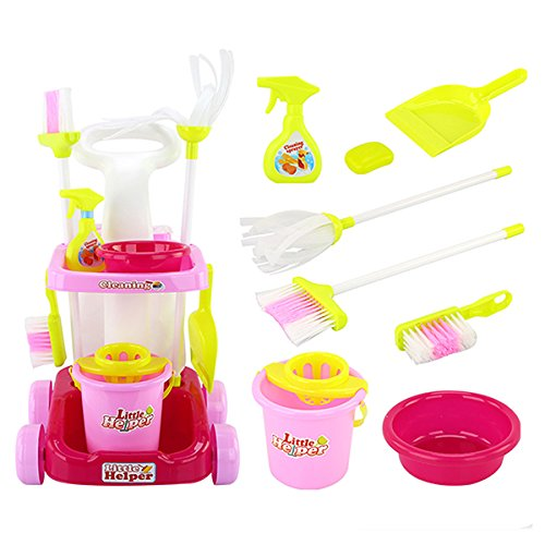 HITSAN Kids Play House Cleaning Set Children Role Play Toy Education Toys