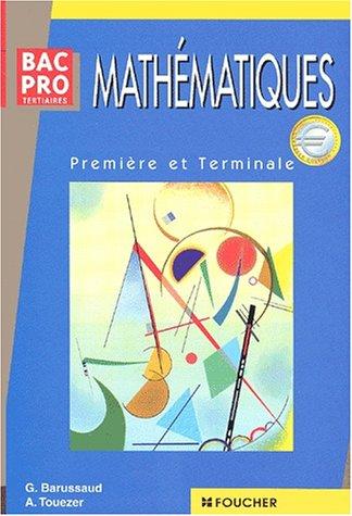 MATHEMATIQUES BAC PRO TERTIAIRE SUJET (Ancienne édition)